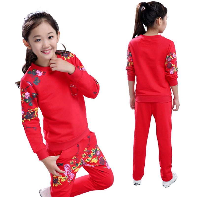 MV Childrens Clothing Gold Velvet Suit Spring Autumn Clothes Girls Sport Two-Piece