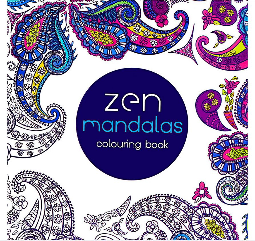 US $1.69 |1 PCS 24 Pages Mandalas Flower Coloring Book For Children Adult  Relieve Stress Kill Time Graffiti Painting Drawing Art Book-in Books from  ...