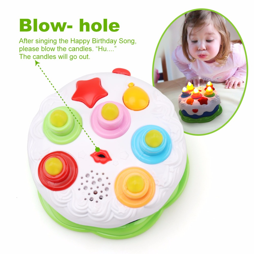 Birthday Cake Toys For Kids Baby With Counting CandlesMusical Children 1 5 Years Old By AmyBenton In Toy Phones From Hobbies On