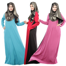 Caftan Marocain None Abaya Plus Size Jubah Islamic Wear Women Mu Hui Shilin Folk Style New Color Long Sleeved Chemise Dress