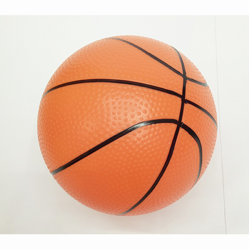 15cm kids sports inflatable toy plastic ball basketball red yellow