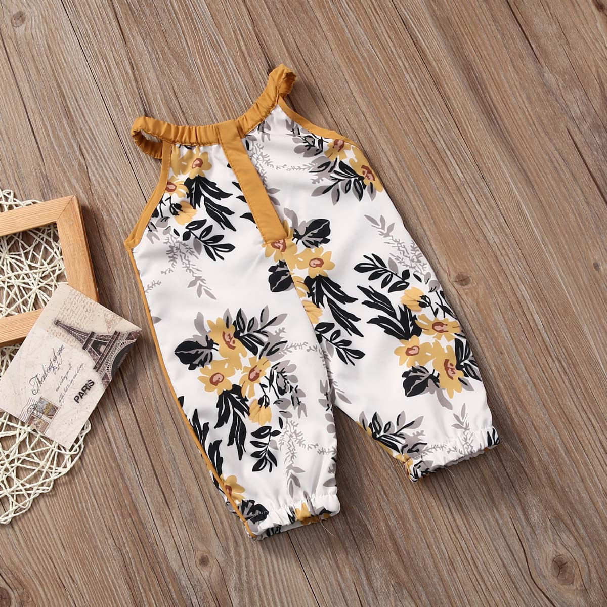 Infant Newborn Baby Girl Boys Clothing Floral Princess Jumpsuit Flower Cotton Baby Romper Clothes Set