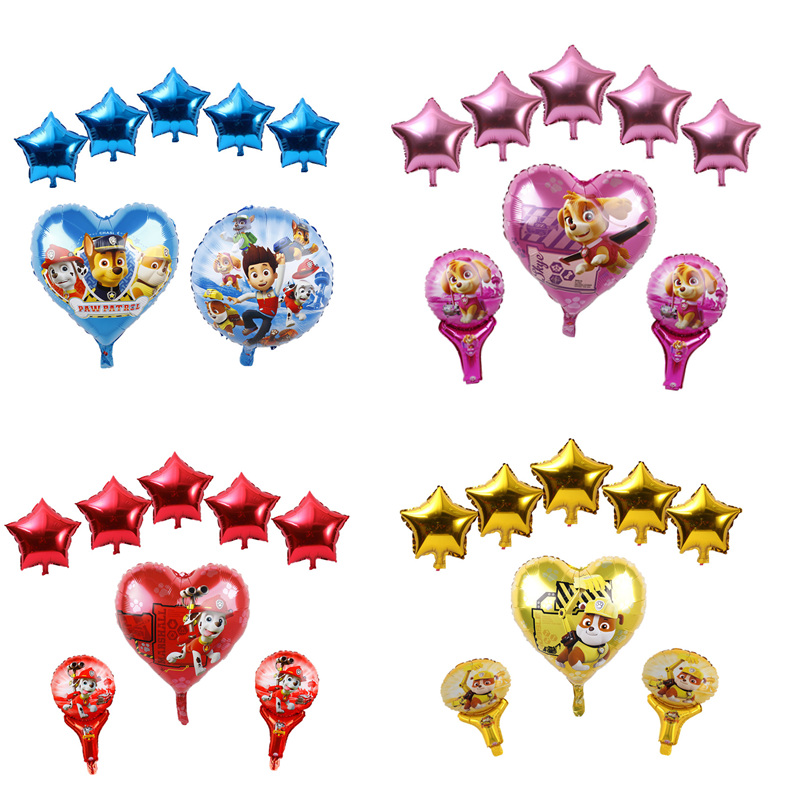 Detail Feedback Questions About 18inch Sky Chase PAW PATROL Foil Balloons Baby Shower Boy Girl Birthday Party Supplies Dog Set Ballons Handheld Stick Air