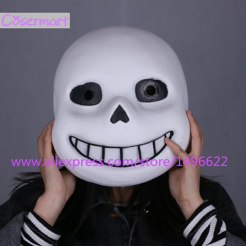 Hot Game Undertale Mask Hard Latex Cosplay Sans Papyrus helmet Full Head Masks Halloween Party Prop (11)