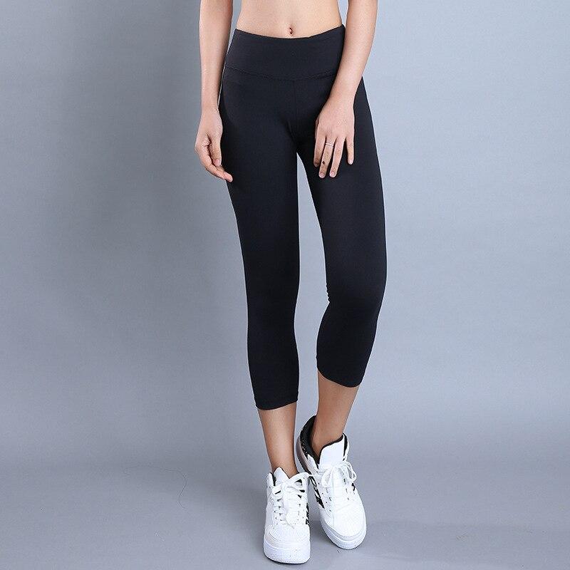 Eshtanga Capris Femmes sport crop top qualité En cours d'exécution Solide capris Épais Matériel Musculation exercice De Yoga skinny leggings
