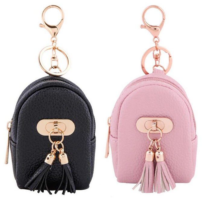 Fashion Women Short Wallets PU Leather Lady Tassel Zipper Moneybags Coin Purse Pocket Card Bag Woman Mini Wallet Key Ring Purses women mini wallets female short money wallets pu leather lady zipper coin purses fashion card holders teenage bag korean style