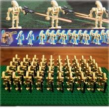 新 60 ピース/ロットスターウォーズクローン · ウォーズカスタム軍の戦闘ドロイドトルーパー銃 SW001C 互換ビルディングブロック子供のおもちゃ
