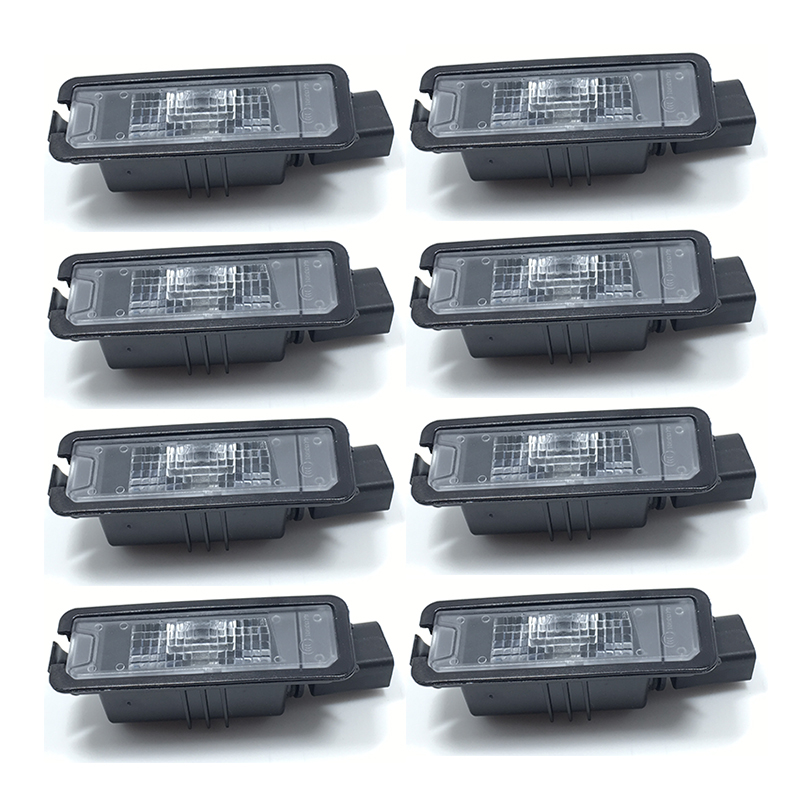 8Pcs License Plate Light For VW Golf MK6 MK7 Passat B7  Scirocco Beetle Polo Leon  35D 943 021  1K8 943 021 for vw passat b7 cc golf mk7 license plate light with plug connector 35d 943 021 a