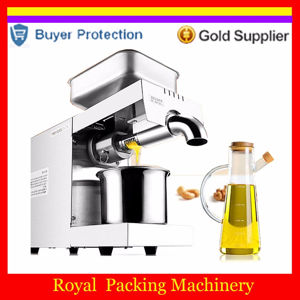 Free shipping Oil Extractor Stainless steel 304 for Home use Oil press machine OPM-700 Customized for Peanut,Sesame,Flaxseed,Nut Бутылка