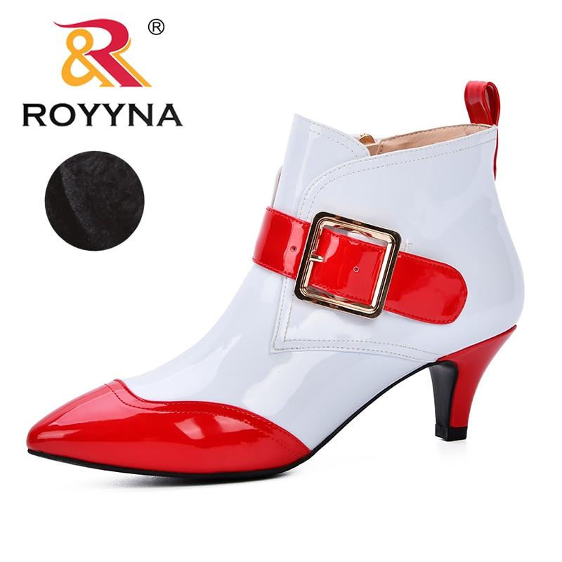 Tobillo Para Mezclados Mujer Puntiaguda Zapatos Royyna Cremallera Punta Chelsea Sexy Delgados De Botas Tacones Colores bv6IYy7fgm