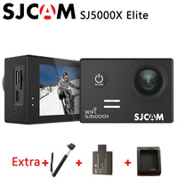 Original SJCAM SJ5000X Elite WiFi 4K 24fps HD Gyro 2.0 LCD Waterproof Sport Action Camera +Extra 1pcs battery+Charger+Monopod
