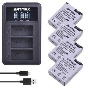 Image 1 - 4 pezzi 1250mAh Hero 3 Gopro Hero3 sostituzione batteria LED caricatore doppio USB per GoPro Go pro Hero 3 3 telecamere