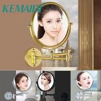 KEMAIDI 360 Swivel Wall Mount Vanity Mirror Extension Arm for Counter Home Bathroom Shaving Makeup Toilet Makeup Mirror