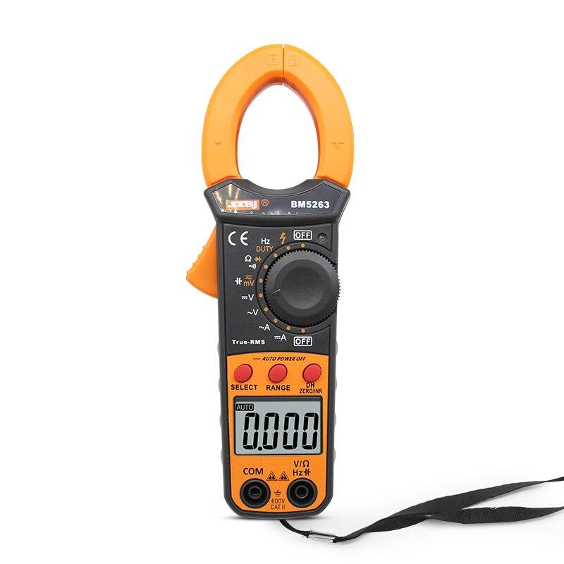SZBJ BM5263 alta precisión AC y DC pinza digital medidor digital AC y DC pinza de corriente