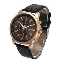 Splendid Fashion Casual Watches Female Geneva Faux Leather Quartz Analog Wrist Watch