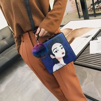Europe And United States Women Bags Fashion Box Bag Small Lock Shoulder Oblique Cross Package Female