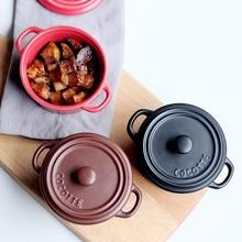 Кастрюля с крышкой керамическая суповая креативная тушеная форма для выпечки Форма для десерта на пару яйцо Ланч Panela кухонная посуда для выпечки термальная плита