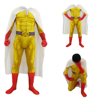 3D printing men ONE PUNCH MAN Cosplay Costume Spiderman Zentai Superhero Bodysuit Suit Jumpsuits