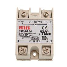 Nouveau Module de relais DC à AC, pour Arduino SSR 40DA contrôleur de température 24V-380V 40A 250V