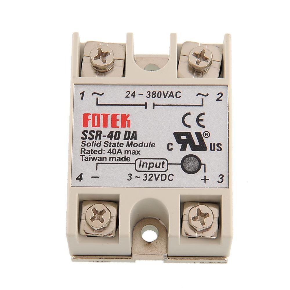 New DC to AC Solid State Relay Module for Arduino <font><b>SSR</b></font> 40DA Temperature Controller 24V-380V 40A 250V <font><b>SSR</b></font>-<font><b>40</b></font> <font><b>DA</b></font> Solid State Relay image