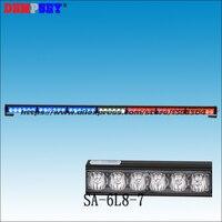 SA 6L8 7 High power LED Red/White/Blue Strobe Warning light,DC12V Police/Car Emergency light, GenIII X 1Watt LED,7pcs head light