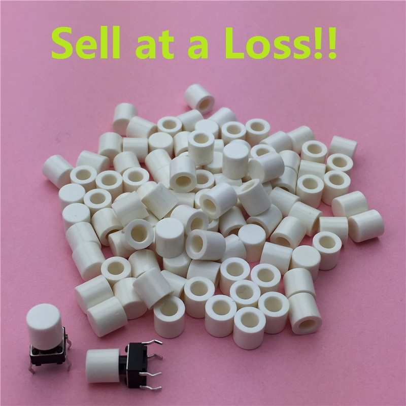 100pcs/lot White Plastic Cap Hat G63 for 6*6mm Tactile Push Button Switch Lid Cover Free Shipping 50pcs lot 6x6x7mm 4pin g92 tactile tact push button micro switch direct self reset dip top copper free shipping russia