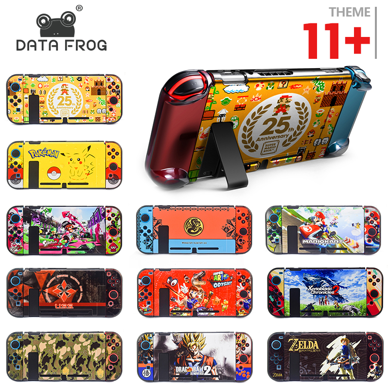 Data Frog Protective Case Shell For Nintend Switch Back Cover For Nitendo Switch NS NX With Joy-Con Controller Direct Docking