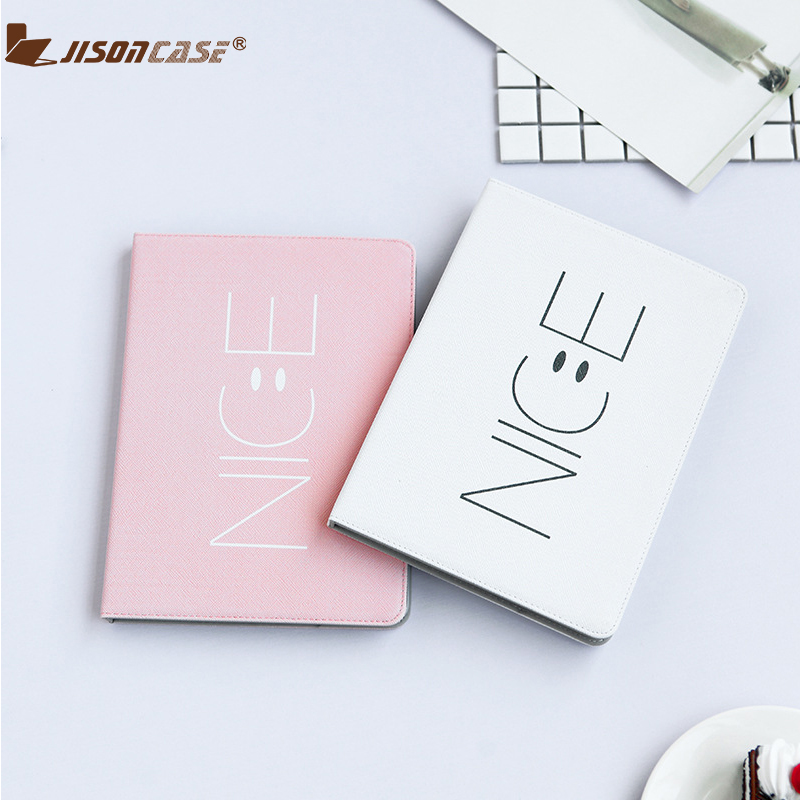 Jisoncase New Tablets Case For iPad Pro 10.5 inch Cute Cartoon Protective Cover 10.5 Stand Flip Cases Sleep Wake PU Funda