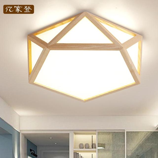 US $150.0 |Japan Delicate Polygon Massivholzrahmen führte deckenleuchten  luminarias para sala esszimmer schlafzimmer küche deckenleuchte in Japan ...