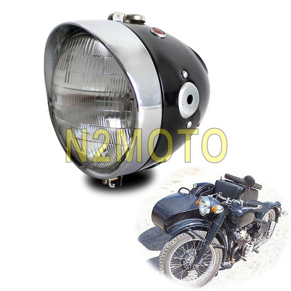 Rétro moto phare avant phare lampe pour K750 KS750 BMW M72 R12 R75 Replika BW40 Dnepr Ural Sidecar