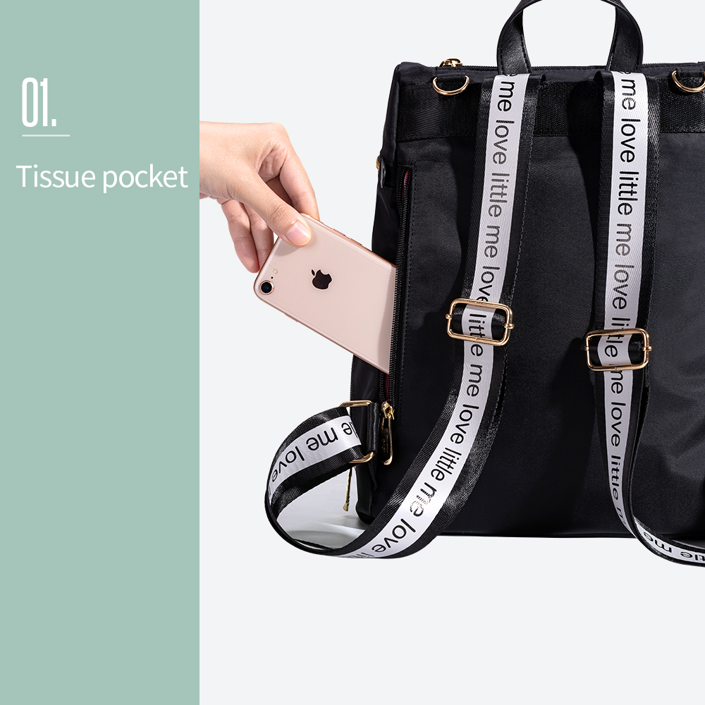 Image 4 - Brand Fashion Diaper Bag Nursing Bag Mummy Maternity Nappy Large Capacity Baby Bag Travel Backpack Designer for Baby Care-in Diaper Bags from Mother & Kids