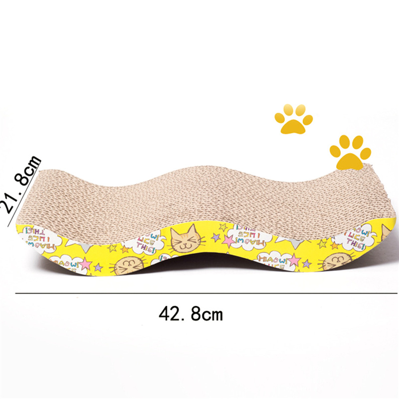 Corrugated paper cat scratch board toy mats pot grinding claw play corrugated paper cat scratch board toy mats pot grinding claw play mat scratching posts for cats pet products toys accessories fandeluxe