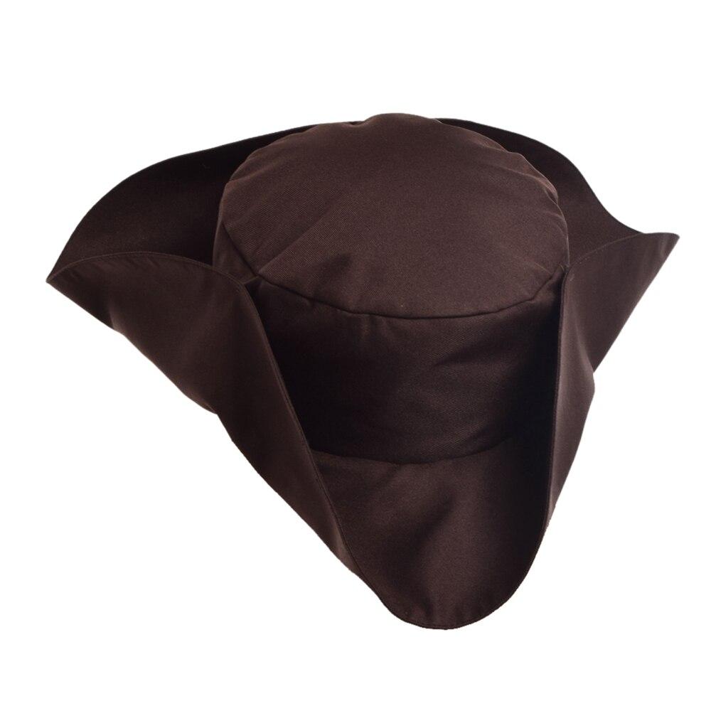 Sombrero pirata de hombre para fiesta de Halloween, sombrero marrón de Tricorn para Cosplay Estatua de una pieza de 9 pulgadas, sombrero de paja, piratas, bigotes blancos, busto, figura de acción de 23,5 CM, juguete de modelos coleccionables, caja J430