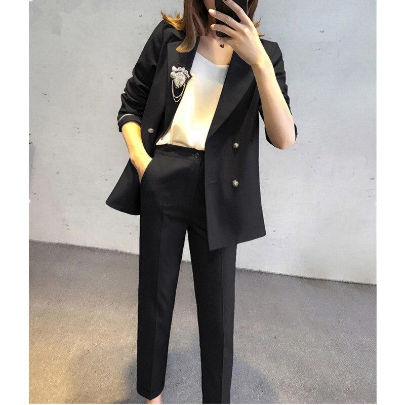 Printemps pantalon Pour Mode Bureau Pantalon Automne Clothin De Dames Tailleur Marque Costumes Femmes 2017 PkiuTwZOX