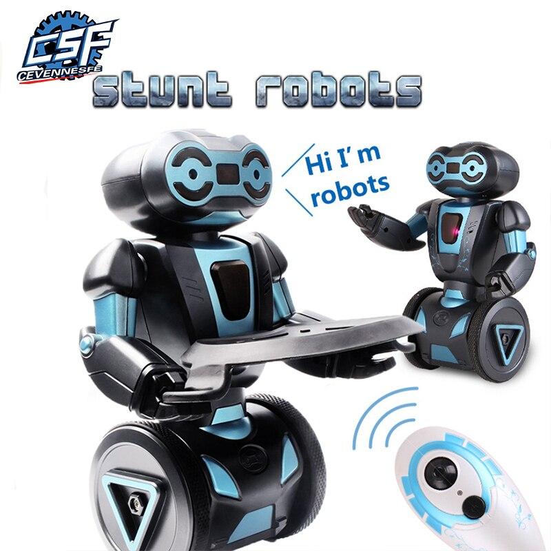 Inteligente Robótico Humanoide Control remoto Robot inteligente auto equilibrio Robot 5 modos de funcionamiento robot perro juguetes electrónicos