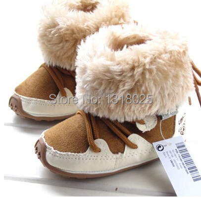 Winter baby rubber soled shoes baby boys and girls toddler boots ...