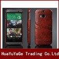 Телефон случаях Мода Марка Оригинальное Масло воск Из Натуральной Кожи Задняя Крышка с Карты Слоты Case для HTC One M8
