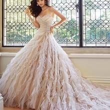 TPSAADE Chapel Length Train Ball Gown wedding Dresses