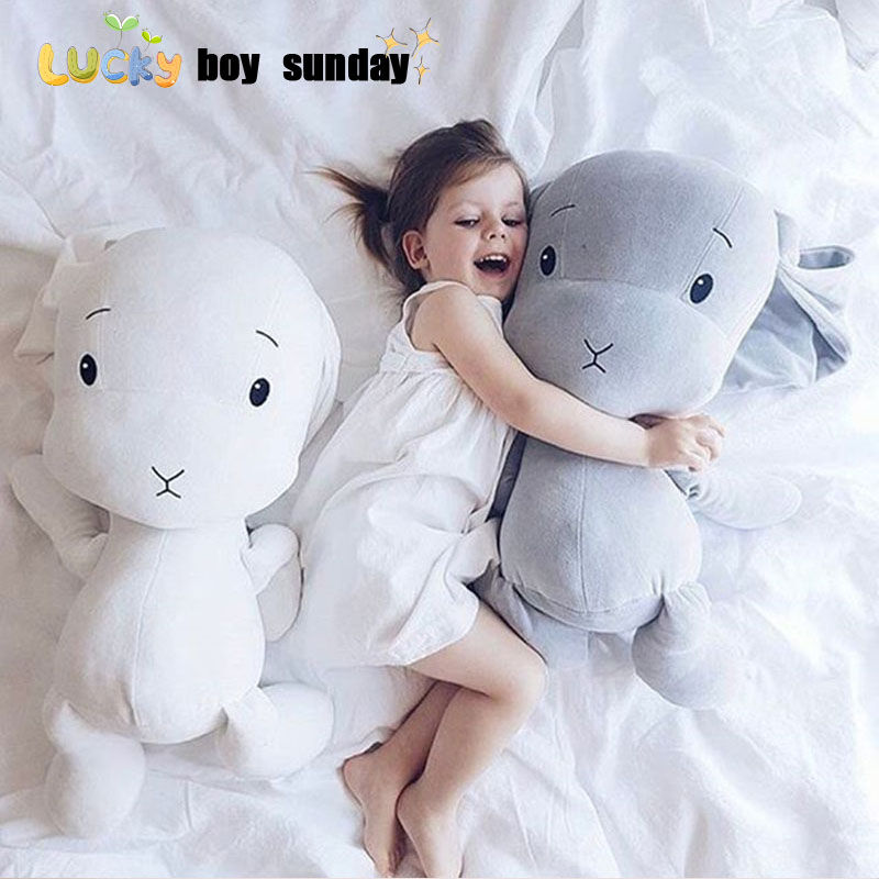 lucky boy sunday cute rabbit plush toy stuffed soft rabbit doll baby kids toys animal toy birthday christmas gift for her 40cm 50cm cute panda plush toy simulation panda stuffed soft doll animal plush kids toys high quality children plush gift d72z