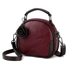 купить High Quality Women Ladies Retro Flower Crossbody Shoulder Bag Tote Messenger Leather Satchel Handbag Top Handle Bags 2019 New дешево