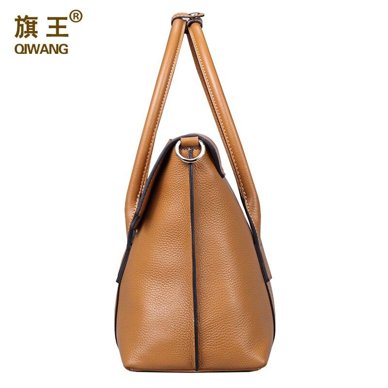 qiwang tamanho grande bolsa retro Material : Genuine Leather