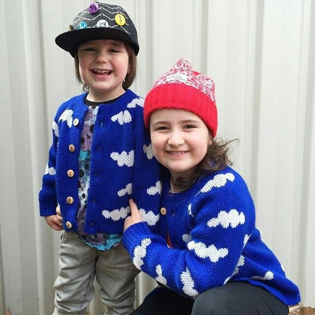 New Year, the cartoon children sweater baby girls cardigan knitwear sweater kids Choses thanks long sleeve for boy outwear