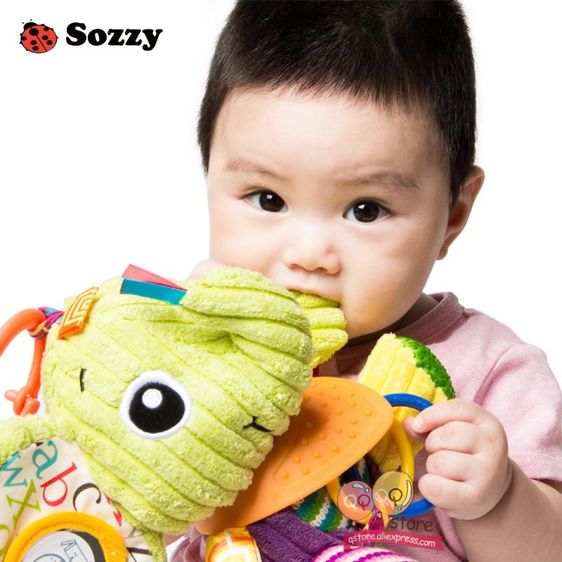 Sozzy Indah Mewah Boneka Binatang Bertekstur Lembut Bed Crib Stroller - Mainan balita - Foto 4
