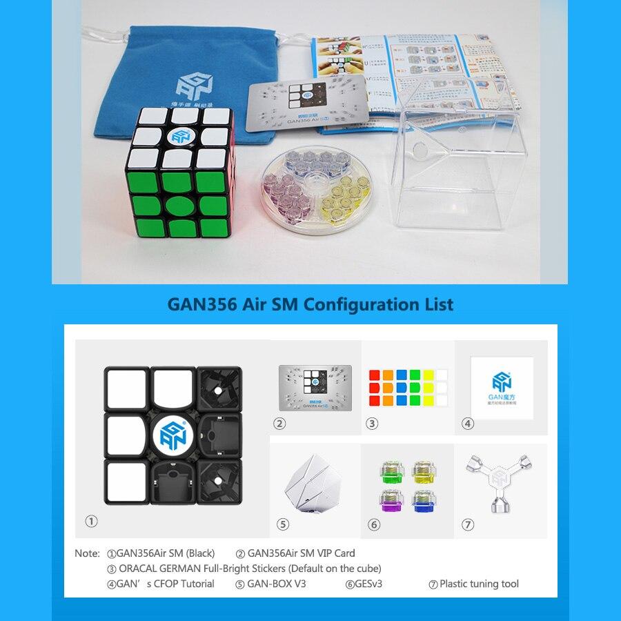 GAN 356 Air SM vitesse Cube positionnement magnétique supervitesse magnéto 3x3 Cubo Magico Gan356 Air SM 3x3x3 Cube magnétique Cube magique - 5