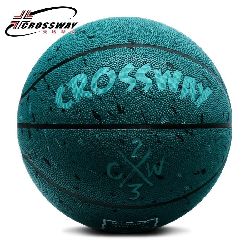 Лидер продаж, новый бренд, дешево, CROSSWAY L702, баскетбольный мяч, PU материал, Официальный Размер 7, баскетбольный мяч, бесплатная доставка, с сетчатой сумкой + иглой-4