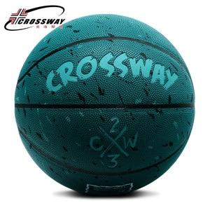 Image 5 - ホット販売新ブランド格安crossway L702バスケットボールボールpuマテリア公式Size7バスケットボール無料でネットバッグ + ニードル