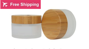 цена на free shipping 30g 10pcs / lot Cosmetics bottle jar / glass Wood cover Frosted glass makeup packing box