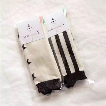 Moda Otoño Invierno bebé niños niñas sobre la rodilla tejer calcetines largos estrella Strippe Ears Infante niño recién nacido Calcetines