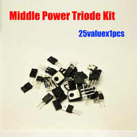 25 unids/lote D882 B772 TIP41C TIP42C MJE13005A etc medio triodo Kit para uso diario