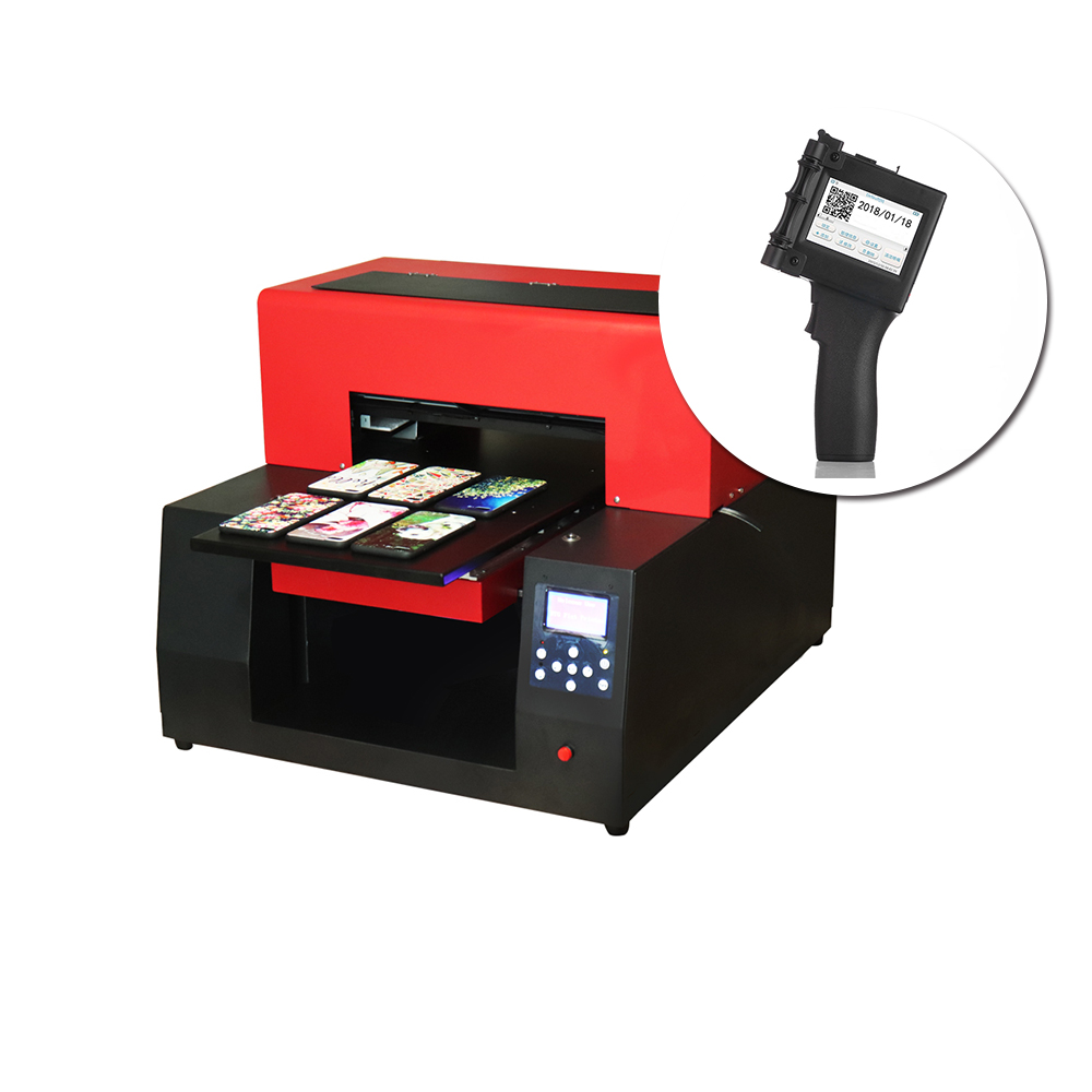 A3 UV Printer Bottle Cylinder Phone Case printing machine & Touch Screen Handheld Printer label printer for metal paper wood